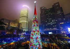 Christmas Tree Decorations Blue And Pink christmas celebrations pictured getting under way across the globe