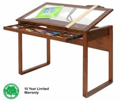 Drafting Table Designs Ponderosa Glass Top Wood Drafting Desk By Studio Designs