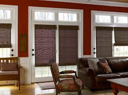 home office window treatment ideas for french doors banquette