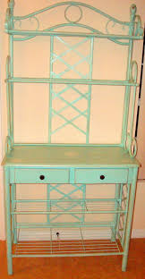 Bakers Rack Console Bakers Rack Painted Turquoise Vintage Paints Pinterest