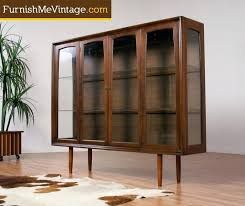 Dining Room Storage Cabinets Dining Cabinet Contemporary Mid Century Modern Lighted Walnut