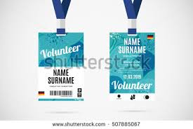 id card sle template event staff id card set lanyard stock vector 505971904