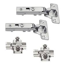 hafele 2 x soft close kitchen cabinet hinge with cruciform plate