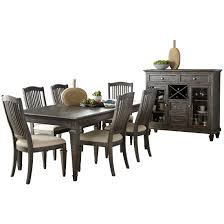 magnussen sutton place rectangular dining table set in weathered