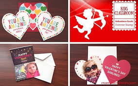 s day cards for classmates personalized kids classroom valentines day cards