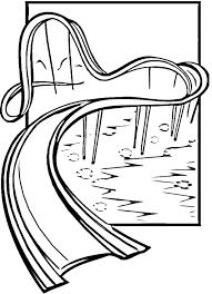 water slide coloring pages coloring home