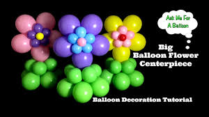 Balloon Decoration For Baby Shower Big Flower Balloon Centerpiece Tutorial Baby Shower Kids