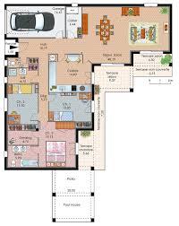 plan maison plain pied 3 chambres plan maison contemporaine plain pied plan maison
