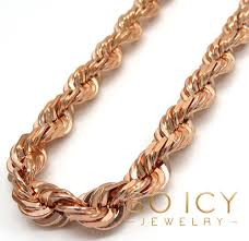 solid copper necklace chain images 14k rose gold solid diamond cut rope chain 24 26 inch 6 50mm jpg