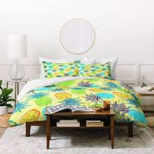 shop pineapple duvet cover on wanelo