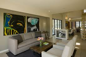 living room foxy apartment ideas with unframed painting granite