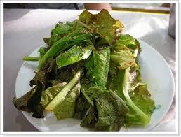 korean lettuce salad sangchu geotjeori with sesame dressing