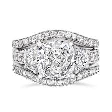 rings wedding set images Cubic zirconia rings 3 5 ct cushion cut 14k wedding set r7557w png