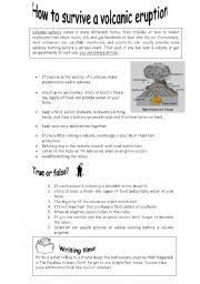 english worksheets volcanoes anchors pinterest volcano