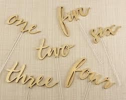 wedding table numbers gold calligraphy wedding table numbers 1 6 my wedding favors