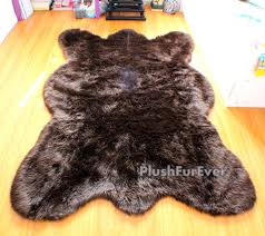 Fake Lion Skin Rug With Head Rugs Make You Feel Like You Are Petting An Artic Polar Bear With