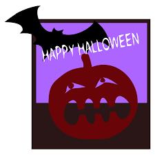 happy halloween text art clipart happy halloween