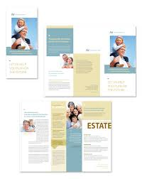 country brochure template estate planning tri fold brochure template