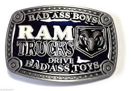 badass trucks amazon com dodge ram belt buckle bad boys drive bad