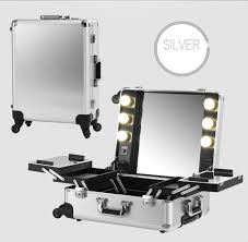 portable lighting for makeup artists silver makeup artist box with lights station portable studio