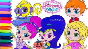 shimmer and shine speed coloring activity page fun for kids