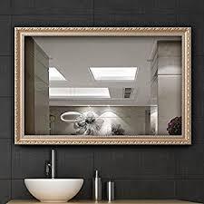 amazon com gold mirror wall decorative vanity bathroom