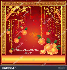 oranges mandarin hanging on tree background stock vector 89606380