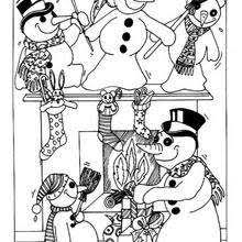 happy snowman family coloring pages hellokids