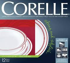 Corelle Dishes Ebay Corelle Classic Cafe Red 12 Pce Vitrelle Glass Dinner Set Plate