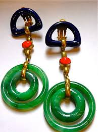1970s earrings vpod vintage 1970s chanel jade earrings