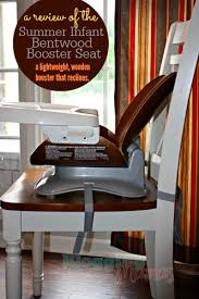 Summer Bentwood High Chair A Review Of The Summer Infant Bentwood Booster Seat Blogging Mamas
