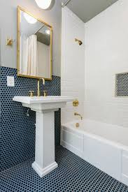 Navy Blue And White Bathroom by Wallpaper Archives Schroeder Carpet