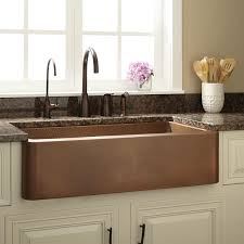 Raina Copper Farmhouse Sink Kitchen - Copper sink kitchen