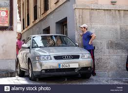 audi toledo toledo spain europe narrow alley car audi hispanic
