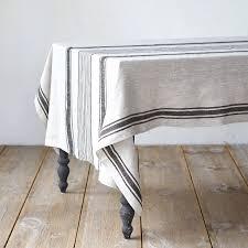 linen striped tablecloth terrain