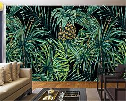 online buy wholesale palm tree wallpaper from china palm tree beibehang 3d wallpaper hd hand painted southeast asian style palm tree leaf mural living room bedroom