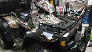 2004 5 sportsman 600 camo wrap before u0026 after polaris atv forum