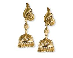 bengali earrings and these jhumkas by tanishq to match the floral leaf designed