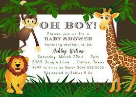 jungle themed baby shower jungle theme ba shower invitations lilbib safari themed baby