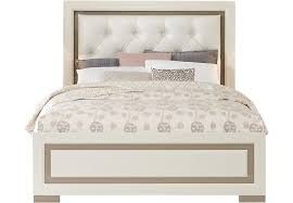 white upholstered bed gardenia pecan 5 pc queen bedroom with