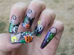 halloween acrylic nail art how you can do it at home pictures