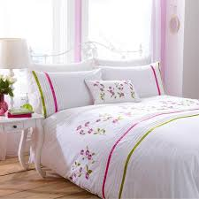 Embroidered Duvet Cover Sets Charlotte Thomas Arabella Floral Embroidery Polycotton Percale