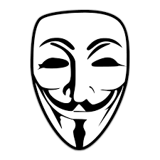 anonymous mask fawkes mask logo shaped sticker unixstickers