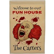 amazon com personalized halloween flag welcome to our fun house