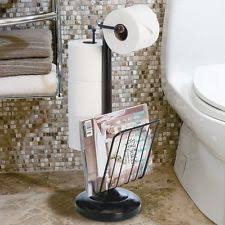 small bathroom table toilet paper holder magazine rack storage