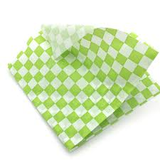 hamburger wrapping paper 24 pcs pack sandwich wrapping paper light green checkered food