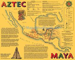 mayan empire map this is a sided gold colored map with two great maps
