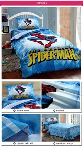 kids spiderman bedding set boys twin size cartoon quilt cover
