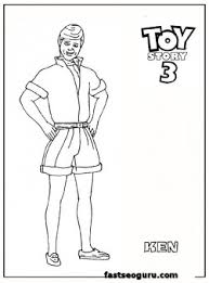 ken toy story 3 coloring pages kids printable coloring pages