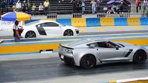 corvette vs audi r8 audi r8 v10 vs corvette z06 c7 arrancones pegaso octubre 25 2015